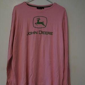 John Deere Pink Long Sleeve Tee Women PLus 3X